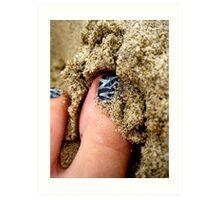 sand between my toes Art Print