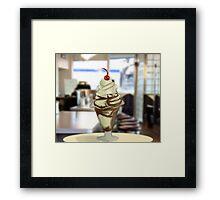 Chocolate Sundae!  Framed Print