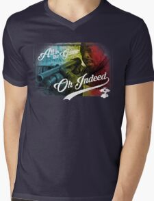Omar Little - Oh Indeed (Rainbow) - Cloud Nine Edition Mens V-Neck T-Shirt
