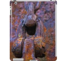 anchor chain on the hulk of the Portlairge, Saltmills, County Wexford iPad Case/Skin