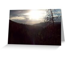 Sunset over Willow Flats Greeting Card