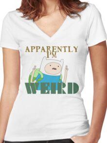 I'm Weird... Women's Fitted V-Neck T-Shirt