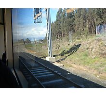 View from a speeding train Photographic Print