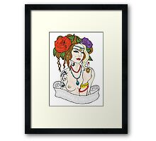 Tattoo Girl Framed Print