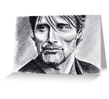 Mads Mikkelsen graphite Greeting Card