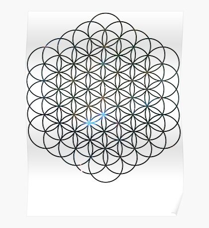 Carina's Mystic Mist Flower of Life   Sacred Geometry Poster
