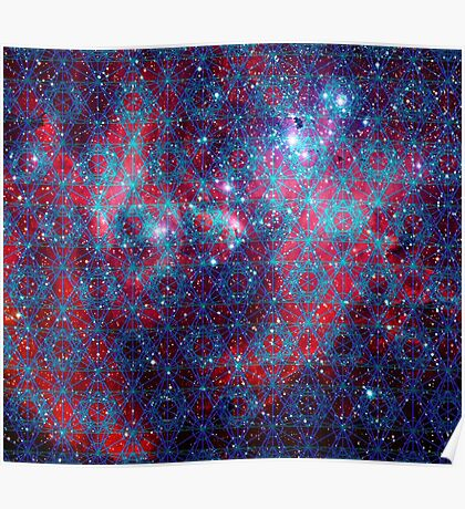 Spiderman Nebula Version 4   Sacred Geometry Patterns Poster