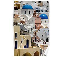 Santorini Morning Poster