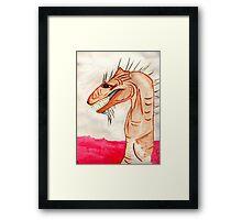 Rahab The Sea Monster Framed Print