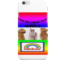 Paint the whole world with a rainbow! iPhone Case/Skin