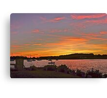 Rhode Island sunset Canvas Print