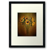 Sun Flowers in a Vase . Framed Print