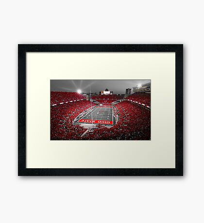 """""""A Scarlet Stage"""" Ohio State Buckeyes Prints, Cards, More Framed Print"""