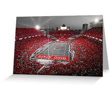 """""""A Scarlet Stage"""" Ohio State Buckeyes Prints, Cards, More Greeting Card"""