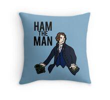 Ham The Man Throw Pillow
