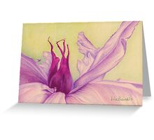 Abstract Peony Greeting Card