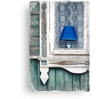 Blue Lamp Canvas Print