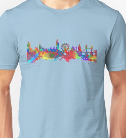 Watercolor art print of the skyline of London Unisex T-Shirt