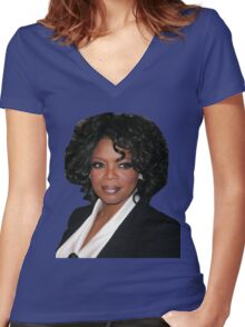 Josh's Oprah Shirt Women's Fitted V-Neck T-Shirt