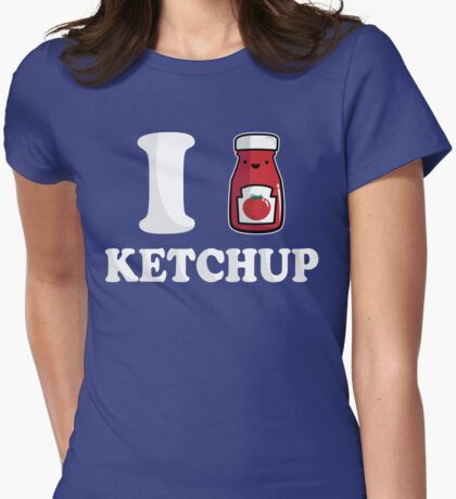 I Heart Ketchup Womens Fitted T-Shirt