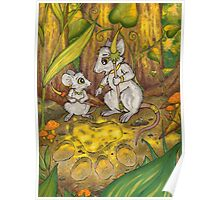 Hunting Lessons - Tribal Mice in the Jungle Poster