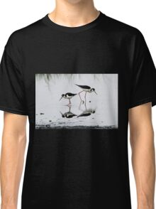 Black necked Stilts with reflection(My reflection is better than yours!) Classic T-Shirt