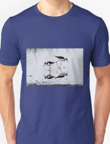 Black necked Stilts with reflection(My reflection is better than yours!) Unisex T-Shirt