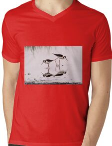 Black necked Stilts with reflection(My reflection is better than yours!) Mens V-Neck T-Shirt