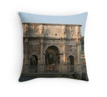 The Arch of Constantine Throw Pillow