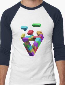 Penrose Tetris Men's Baseball ¾ T-Shirt