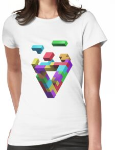 Penrose Tetris Womens Fitted T-Shirt