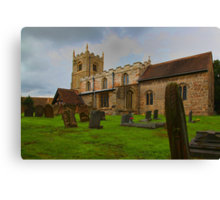 St Edmunds Church Walesby, notts Canvas Print