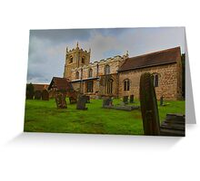 St Edmunds Church Walesby, notts Greeting Card