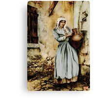 Water carrier - coloured drawing Canvas Print