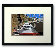 Boats In Drydock Framed Print