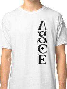 Ace Tatto - Black on White Classic T-Shirt