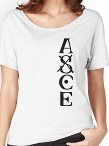 Ace Tatto - Black on White Women's Relaxed Fit T-Shirt