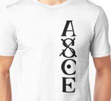 Ace Tatto - Black on White Unisex T-Shirt