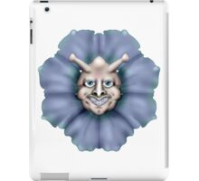 Blue flower smiley iPad Case/Skin
