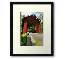 Brookwood Covered Bridge Framed Print