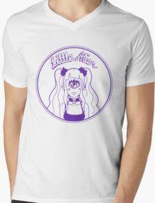 Little Alien Portrait (Purple) Mens V-Neck T-Shirt