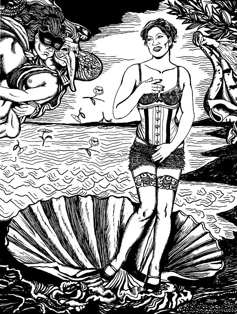 Cabaret Birth Of Venus: Amanda Palmer by ZugArt