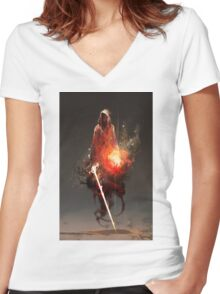 Acolyte of Embers Women's Fitted V-Neck T-Shirt