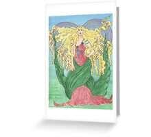 Mucha Corazon Greeting Card