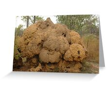 Unusual shape of termite mound  Greeting Card