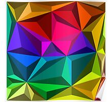 Colorful abstract illustration, low poly style Poster