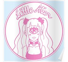Little Alien Portrait (Pink) Poster
