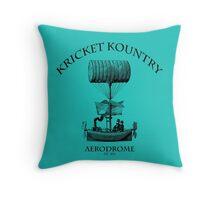 KRICKET KOUNTRY AERODROME, Est. 1824! Throw Pillow
