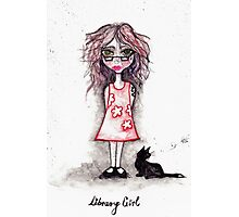 Library Girl Photographic Print