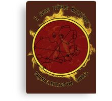 """""""I see fire inside the mountain"""" in Gallifreyan Canvas Print"""